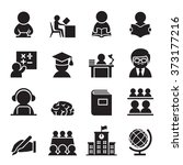 learning icon | Shutterstock .eps vector #373177216