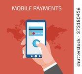 mobile payment concept. man... | Shutterstock . vector #373180456