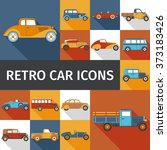 old cars set | Shutterstock . vector #373183426
