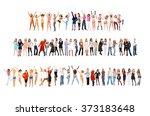 together we celebrate teamwork... | Shutterstock . vector #373183648