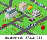 isometric city street | Shutterstock . vector #373184758
