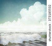nature tropic background in... | Shutterstock . vector #373185532