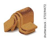 whole grain sliced bread... | Shutterstock .eps vector #373194472