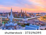 beautiful landmark of bangkok... | Shutterstock . vector #373196395