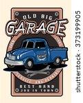 vintage garage retro poster.car ...   Shutterstock .eps vector #373199905