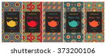 set of cards or tea package... | Shutterstock .eps vector #373200106