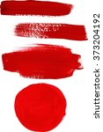 a set of vector abstract red... | Shutterstock .eps vector #373204192