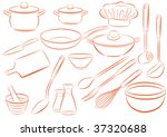 dishes | Shutterstock .eps vector #37320688