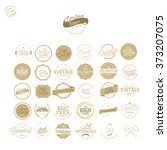 set of vintage premium quality... | Shutterstock .eps vector #373207075