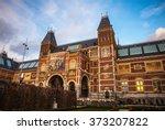 the rijksmuseum is a... | Shutterstock . vector #373207822