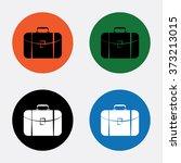 travel bag icon   Shutterstock .eps vector #373213015