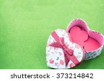 valentine and  heart gift box   ... | Shutterstock . vector #373214842