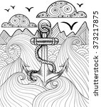 Vector Zentangle Print For...