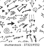 vector hand drawn arrows set... | Shutterstock .eps vector #373219552
