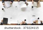 business team planning strategy ... | Shutterstock . vector #373224115