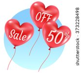 balloons style hearts sale... | Shutterstock .eps vector #373228498