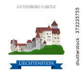gutenberg castle in... | Shutterstock .eps vector #373235755