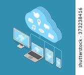 cloud storage backup online... | Shutterstock .eps vector #373238416