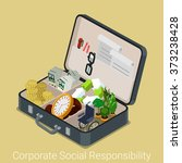corporate social responsibility ... | Shutterstock .eps vector #373238428
