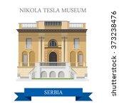 nikola tesla museum in belgrade ... | Shutterstock .eps vector #373238476