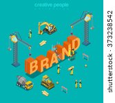 brand creation branding process ... | Shutterstock .eps vector #373238542