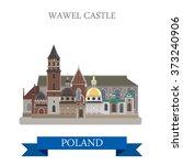 Wawel Castle In Poland. Flat...
