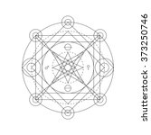 mystical geometry symbol.... | Shutterstock .eps vector #373250746