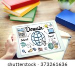 domain global communication... | Shutterstock . vector #373261636