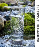 natural water in a glass | Shutterstock . vector #373268746