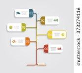 banner infographic design... | Shutterstock .eps vector #373274116