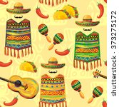 mexican seamless music pattern... | Shutterstock .eps vector #373275172