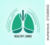 vector lungs icon   Shutterstock .eps vector #373280032