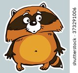 icon sticker funny surprised... | Shutterstock .eps vector #373291006