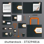 corporate identity template... | Shutterstock .eps vector #373294816