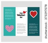 valentine day love borchure... | Shutterstock .eps vector #373297078