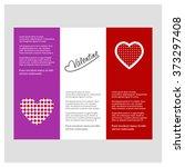 valentine day love borchure... | Shutterstock .eps vector #373297408