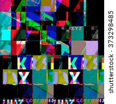 abstract typographic background.... | Shutterstock . vector #373298485