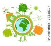green world   planet | Shutterstock .eps vector #37330174