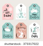Easter Tags  Labels With Cute...