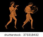vector color illustration of... | Shutterstock .eps vector #373318432