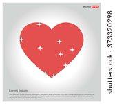 valentines heart. vector... | Shutterstock .eps vector #373320298