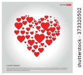 valentines heart. vector... | Shutterstock .eps vector #373320502