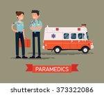 cool vector paramedics concept... | Shutterstock .eps vector #373322086