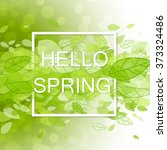 spring abstract background.... | Shutterstock .eps vector #373324486