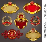 set of elegant templates for... | Shutterstock .eps vector #373331446