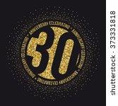 thirty years anniversary... | Shutterstock .eps vector #373331818