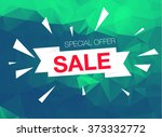 super sale special offer banner ... | Shutterstock .eps vector #373332772