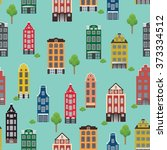 vintage pattern with beautiful... | Shutterstock .eps vector #373334512