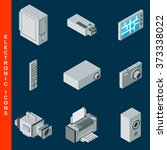 isometric flat 3d electronic... | Shutterstock .eps vector #373338022