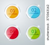 round colored glass icons.... | Shutterstock .eps vector #373363162